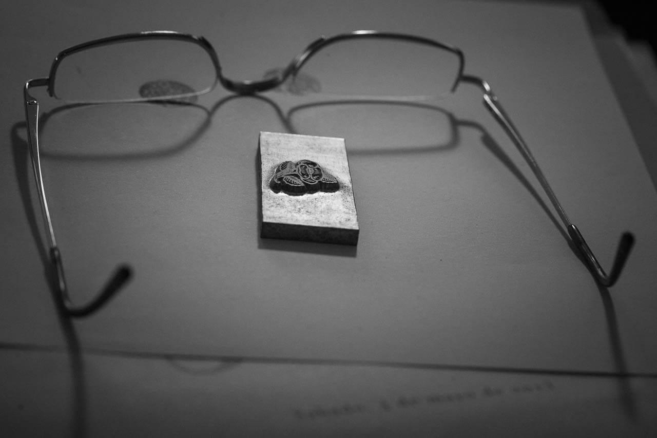 Brille vom Drucksetzer Martin Z Schröder